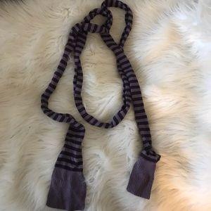 purple striped scarf